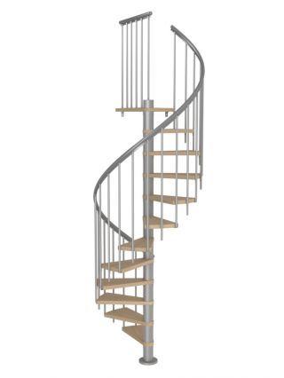 Best Dolle Montreal Grey Spiral Stair Kit Oak Veneer Treads 400 x 300