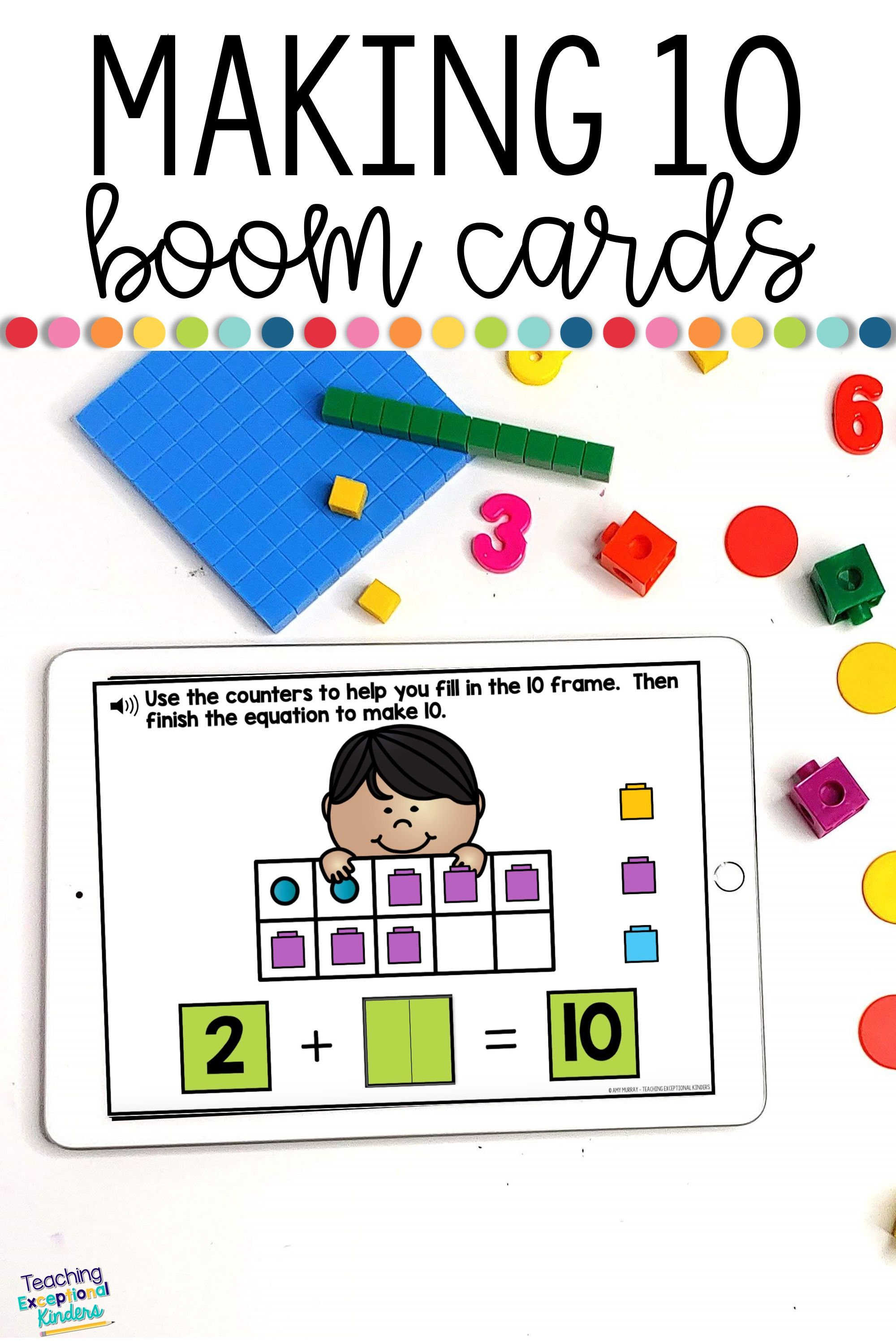 Making 10 Digital Task Cards For Boom Learning In