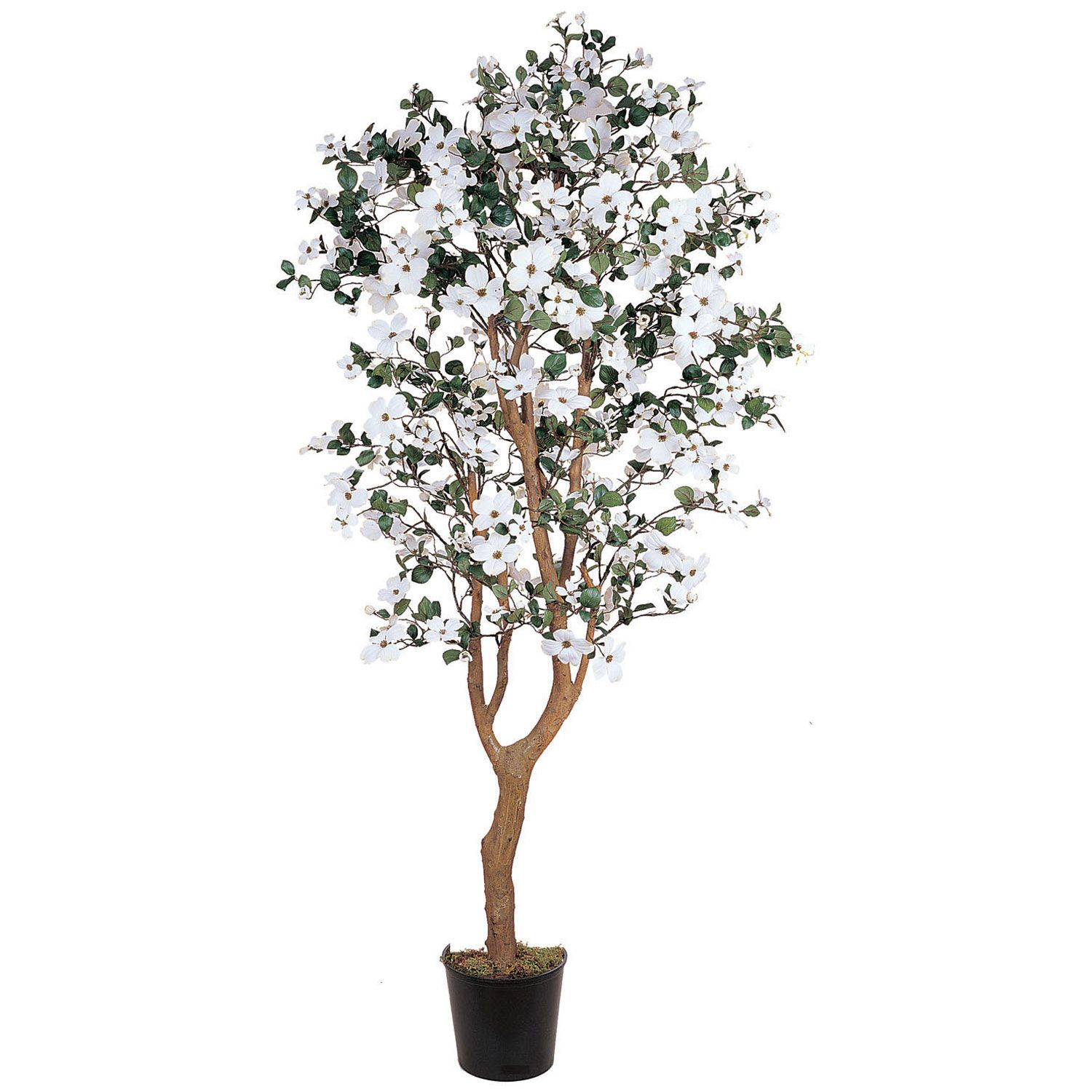 Bring The Enchantment Of The Wonderful Dogwood Flower Into Your Home With Images Potted Trees Dogwood Trees Artificial Plant Arrangements