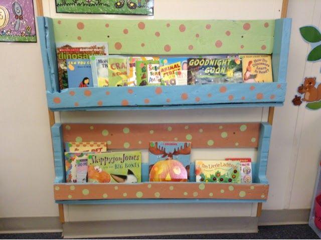 Kindergarten Cupcakes- Pallet Bookshelves | Pallet ...
