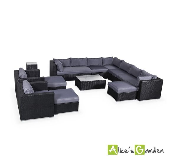alice 39 s garden salon de jardin en r sine tress e xxl 14. Black Bedroom Furniture Sets. Home Design Ideas