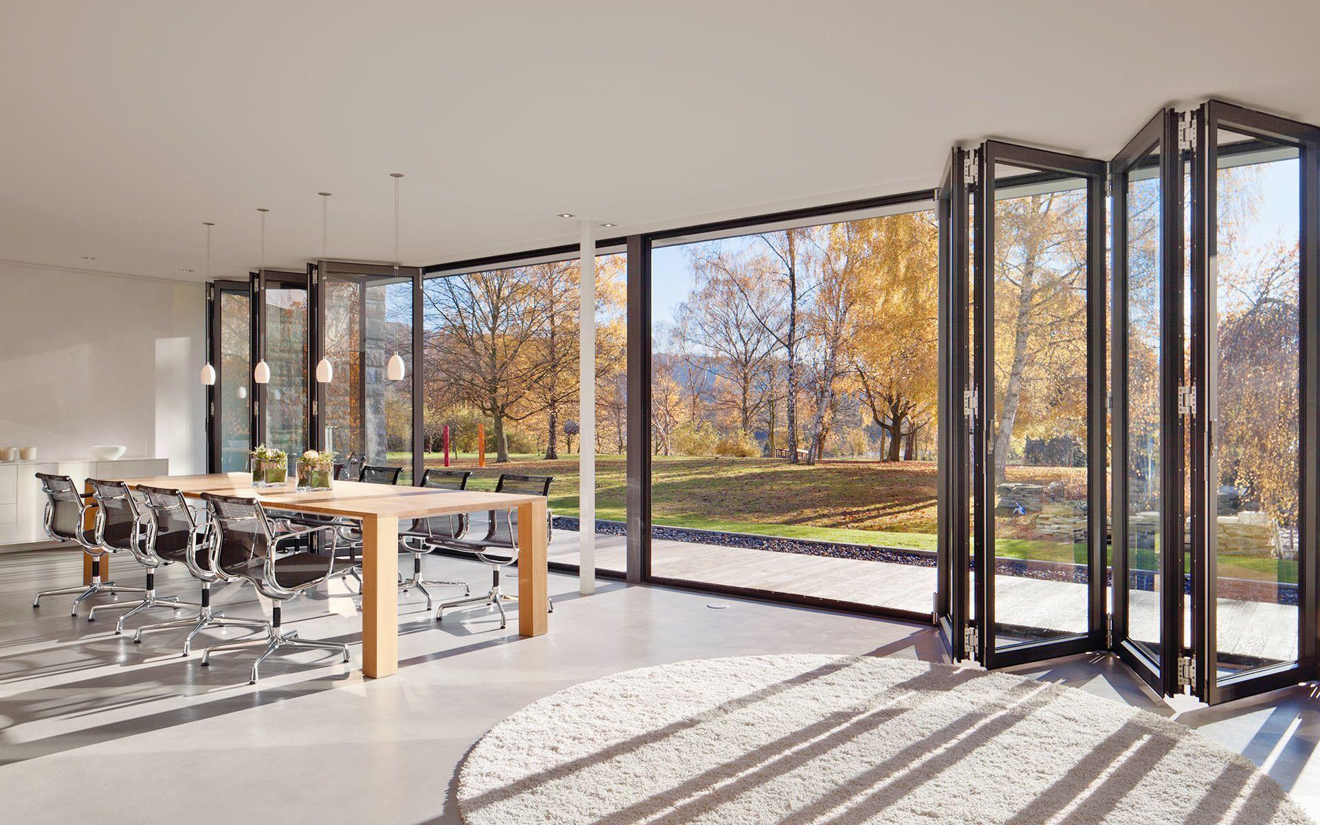 Glas Faltwand Fenster windows Pinterest