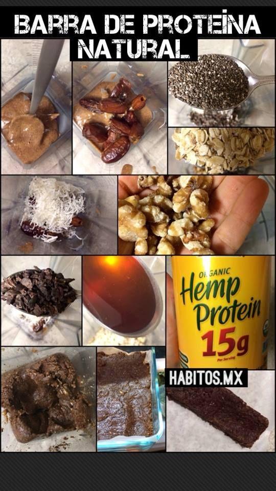 barras de proteina caseras receta