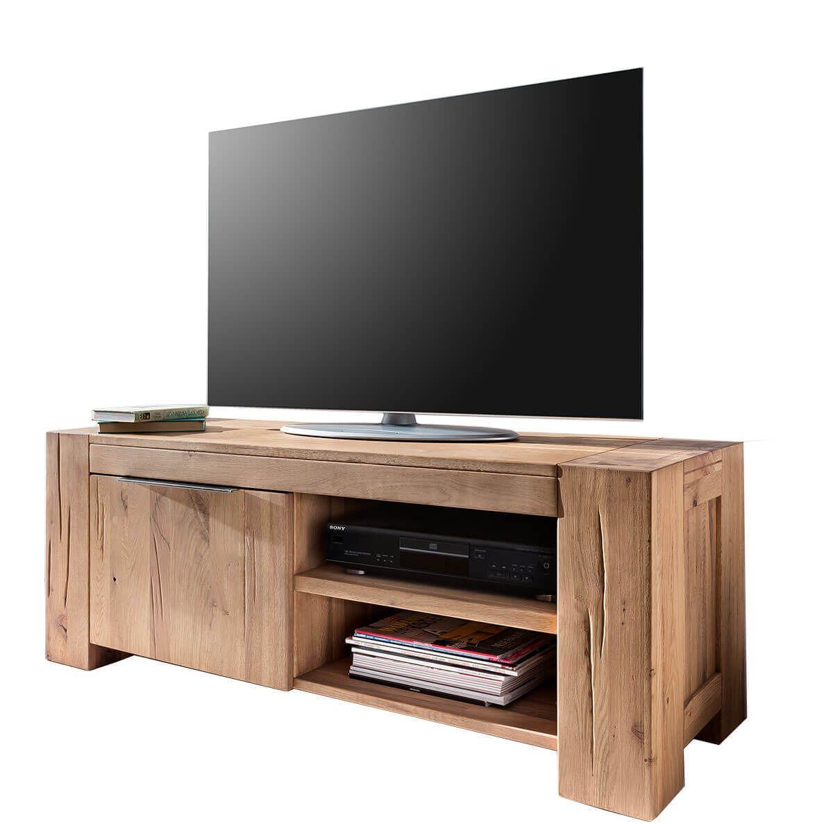 Tv Lowboard 130cm Tv Schrank Eiche Natur Geolt Fernsehschrank
