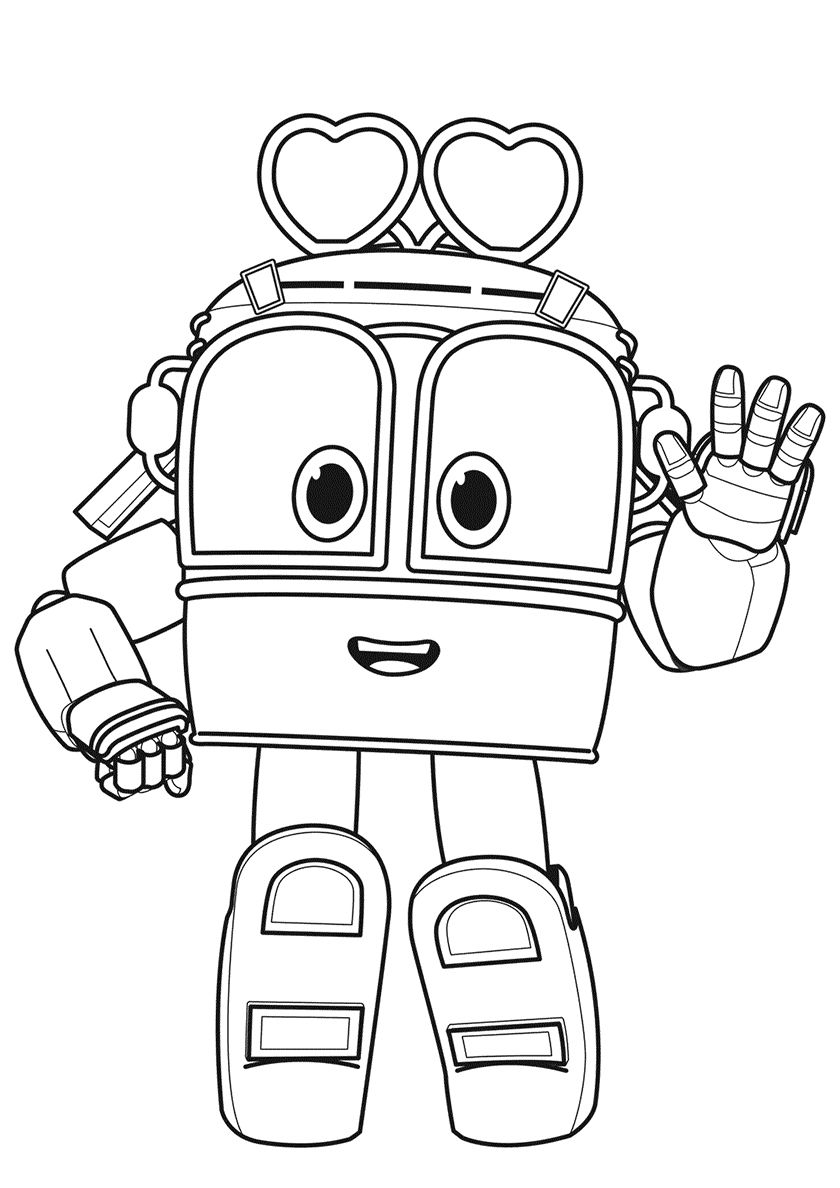 Robot Train Selly Train coloring pages, Cartoon coloring