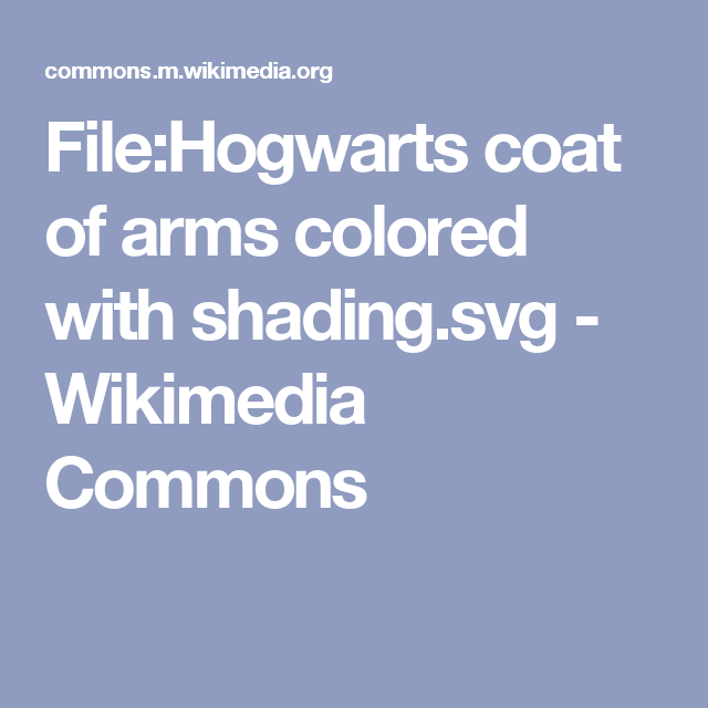 File:Hogwarts coat of arms colored with shading.svg - Wikimedia Commons