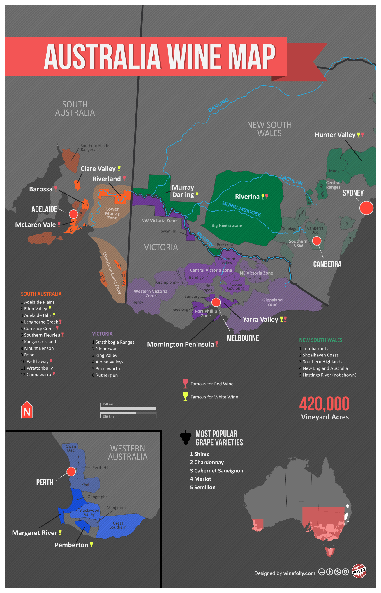 "[Map] ""Australia Wine Map"" Jan-2013 by Winefolly.com"