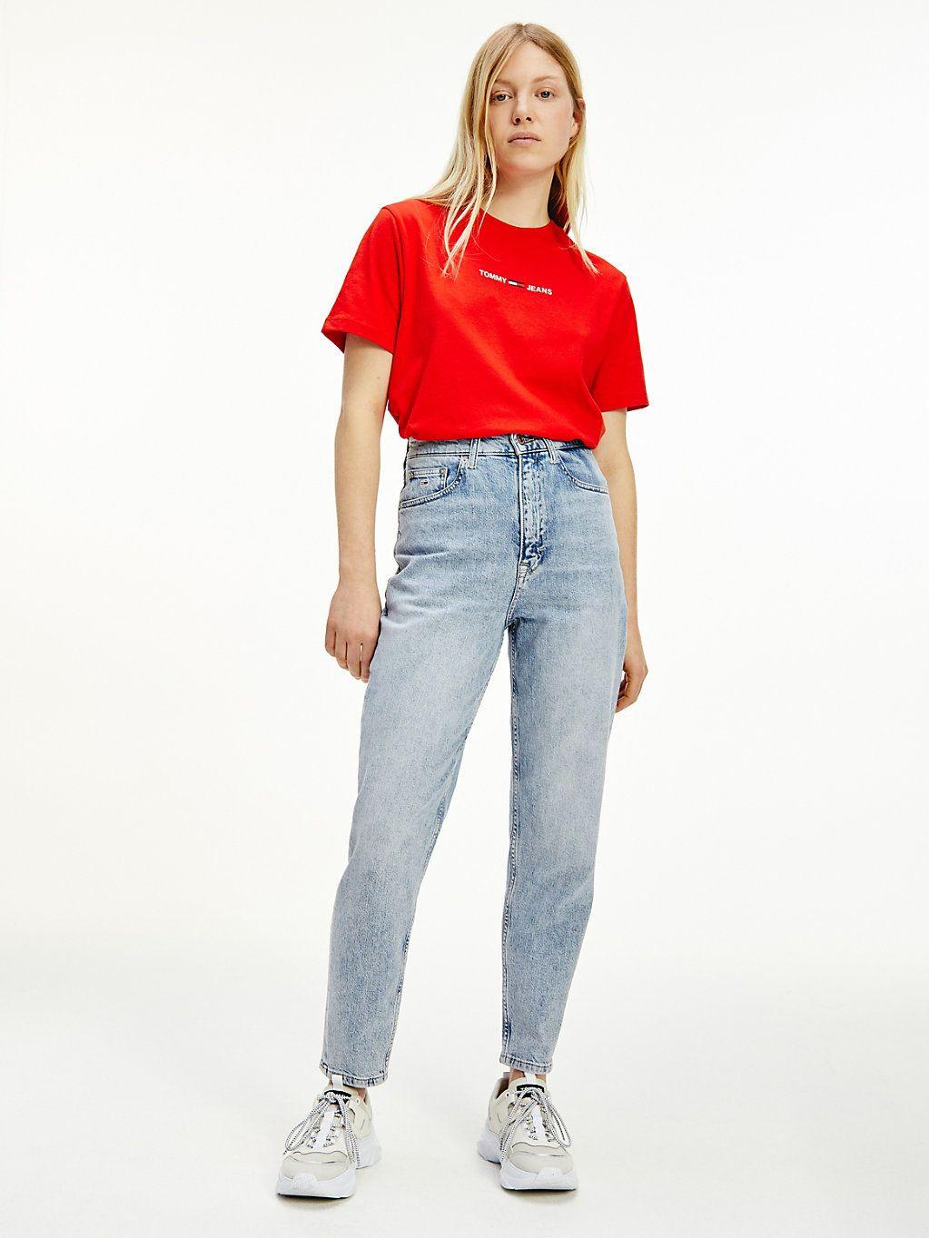 Tapered Mom Jeans mit ultrahohem Bund   DENIM   Tommy Hilfiger in ...