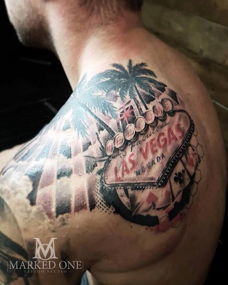 Vegas Tattoo What Happens In Vegas Stays In Vegas By Gav Guest Vegas Tattoo Tattoos Chip Tattoo