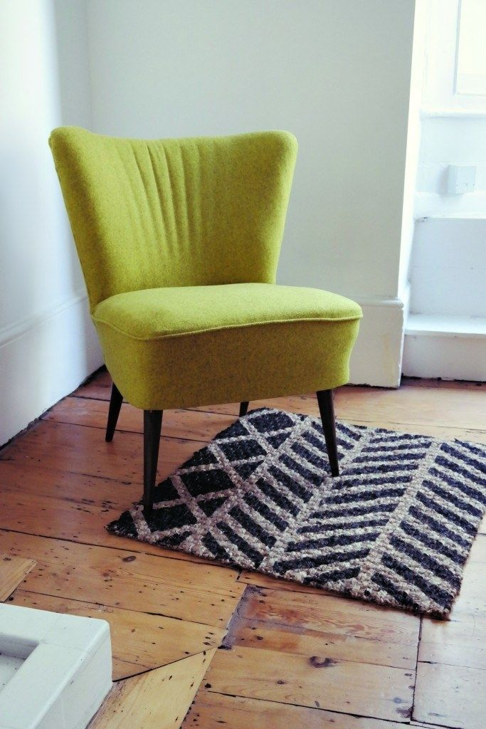 Liven up an Osted rug with a patterned coat of paint. (mit