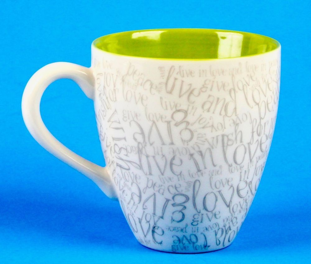 Starbucks Coffee Mug Cup Live in Joy Love in Peace 14 oz