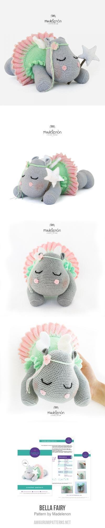 Bella Fairy amigurumi pattern by Madelenon   Hipopótamo, Tejido y Ideas