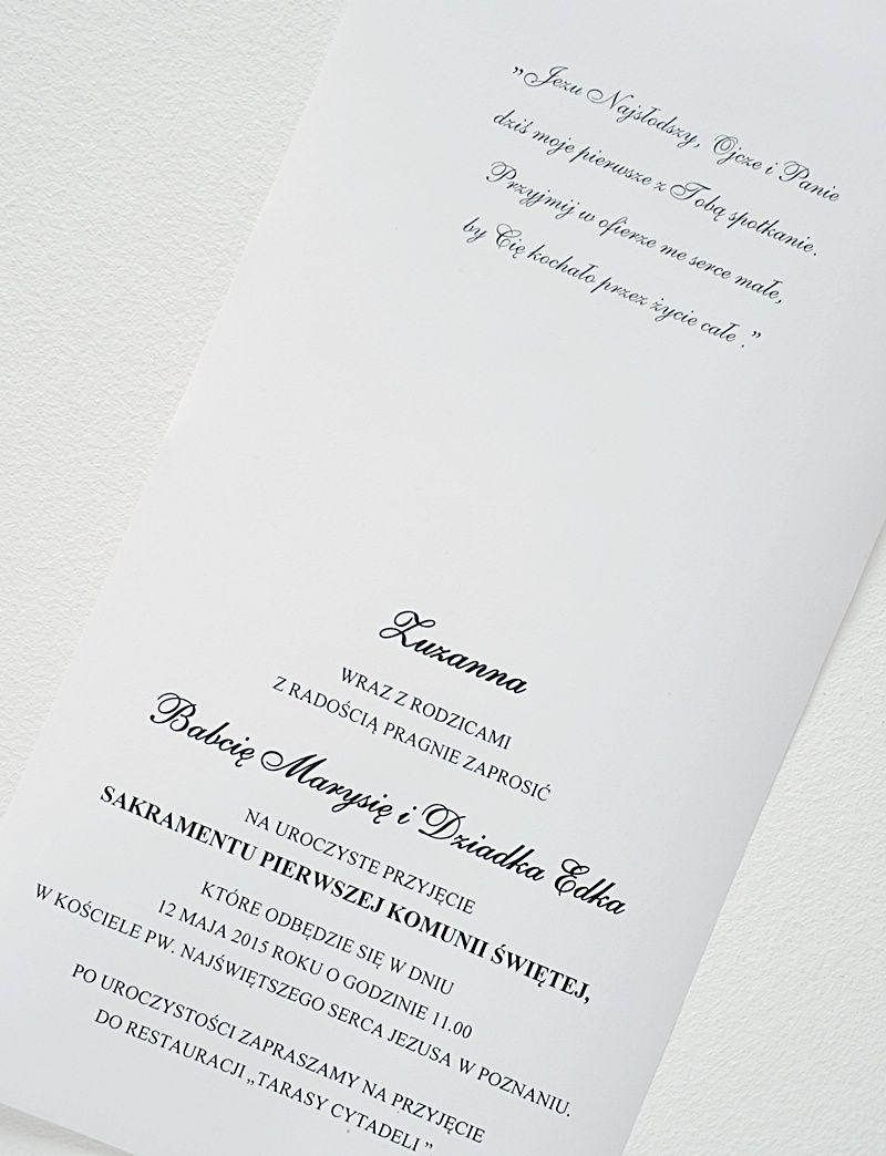 Zaproszenie Zaproszenia Na Komunie Komunijne Ihs 6756440475 Oficjalne Archiwum Allegro Cards Diy Personalized Items