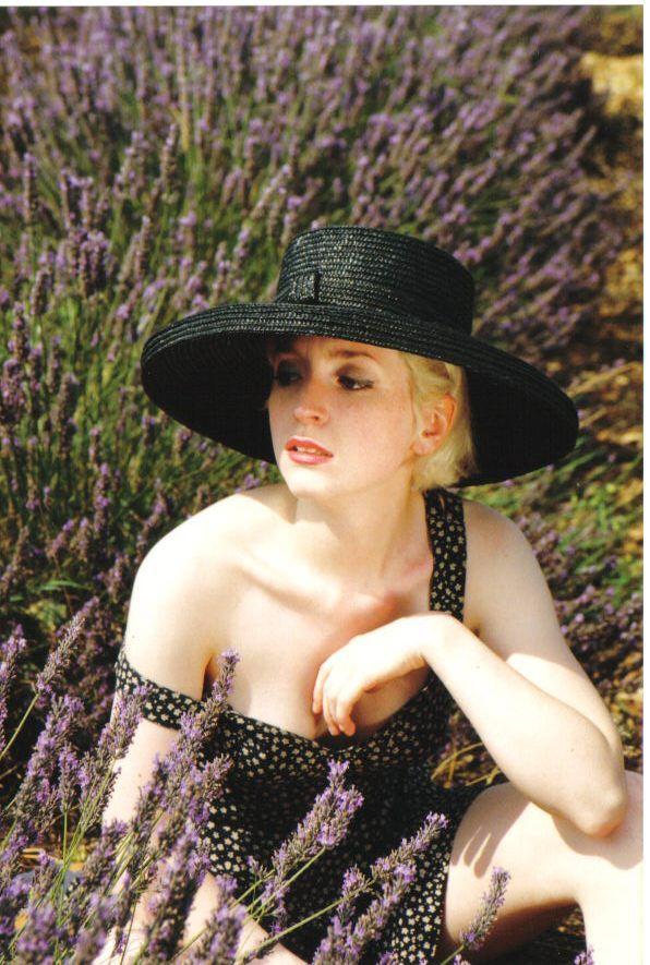 Charlotte in lavender field