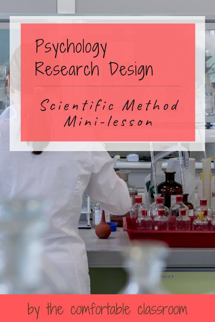 Psychology Research Design Scientific Method Minilesson
