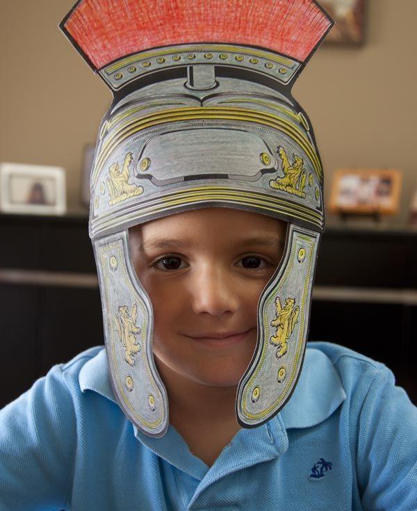 Roman Centurion Helmets Kids Craft