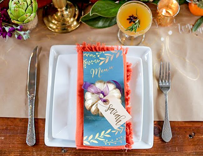 Chic and Colorful Friendsgiving - Inspired By This