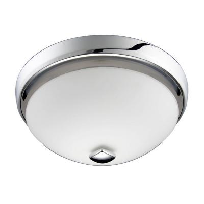 decorative chrome 100 cfm ceiling exhaust bath fan with light