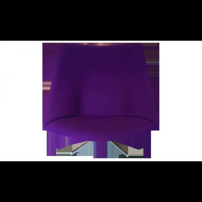 Fauteuil Oyster Pierre Paulin vendu par IdeaParisDesign - paris (75 - Paris). Hauteur : 79, Largeur : 86, Profondeur : 70, État : Bon état, Materiau : Tissu, Style : Design, Couleur : Violet