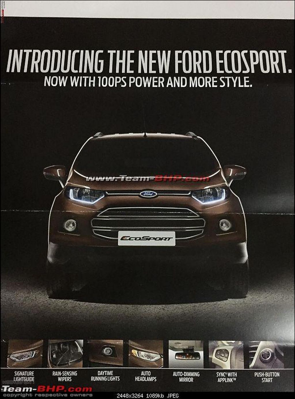 Ford Ecosport Facelift Brochure Out Gets Minor Changes Ford Ecosport Ford Facelift