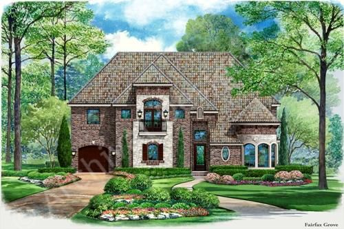 Fairfax Grove House Plan - Front Rendering