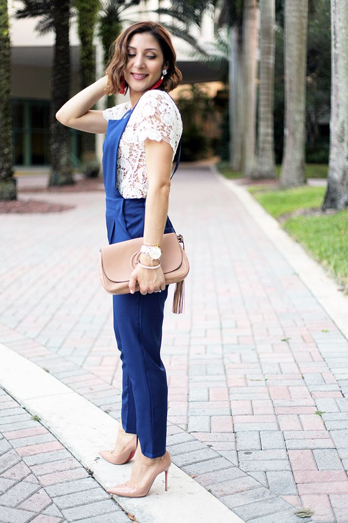 4faf91aea449 Blame it on Mei Blog Fall 2015 Miami Fashion Blogger SheIn Jumpsuit Lace Top  Montblanc TimeWalker Watch Tiffany T bracelet Gucci Soho YSL ring Louboutin  ...