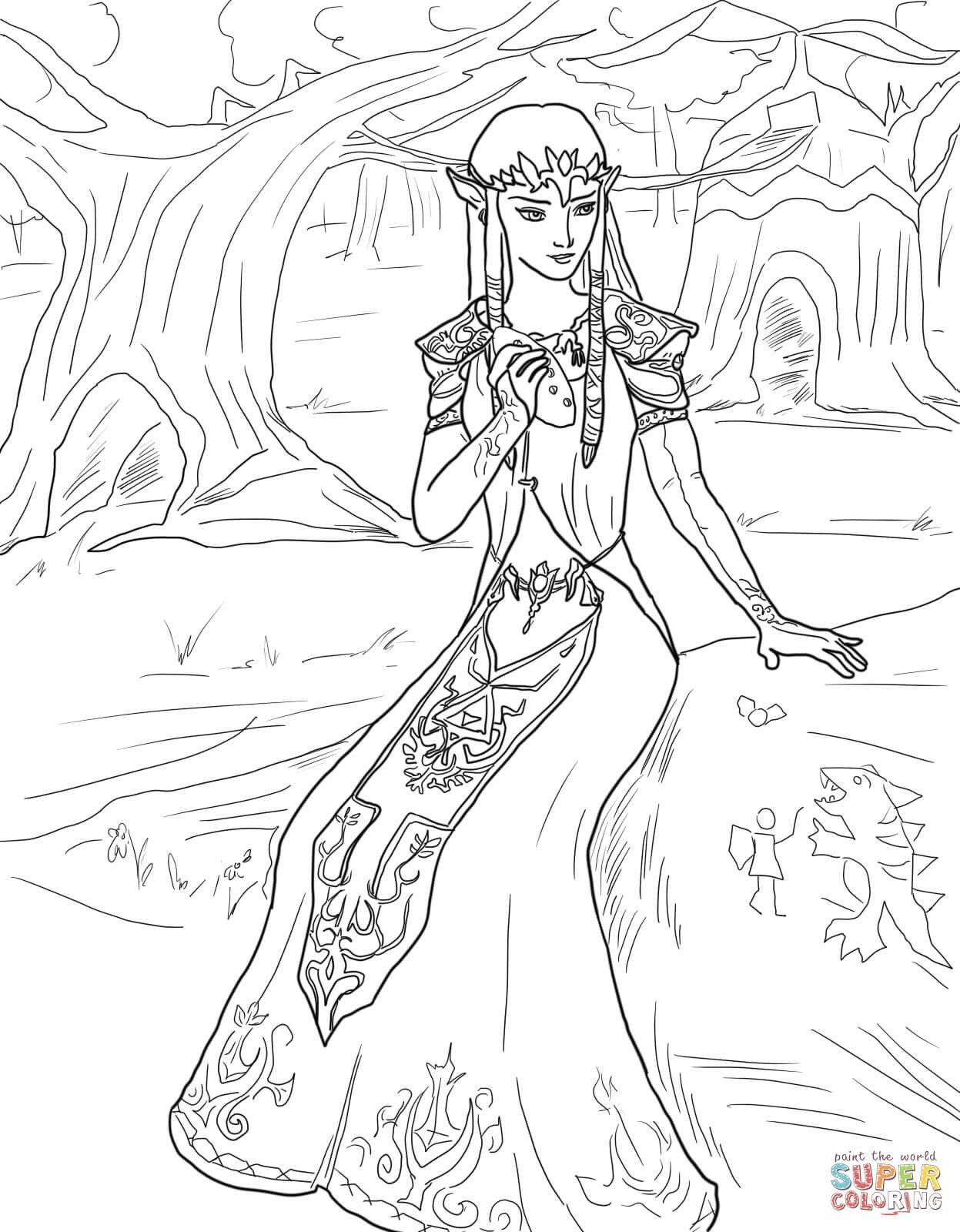 Princess Zelda Coloring Pages Libri Da Colorare Disegni Da Colorare Colori