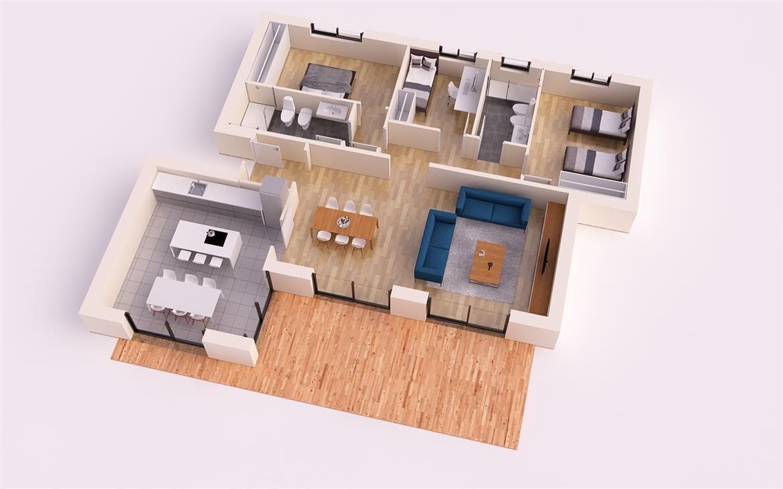 Patricia 150m2 apartment design pinterest casas de for Casa moderna 150 m2