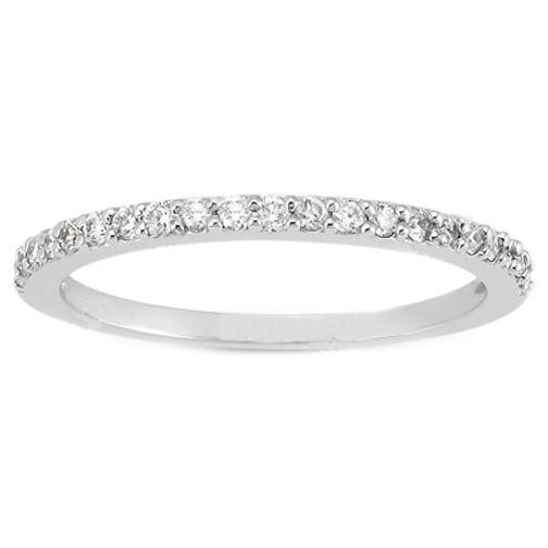Wedding Band Round Diamond Pavé Set 0 21 Tcw In 14k White Gold