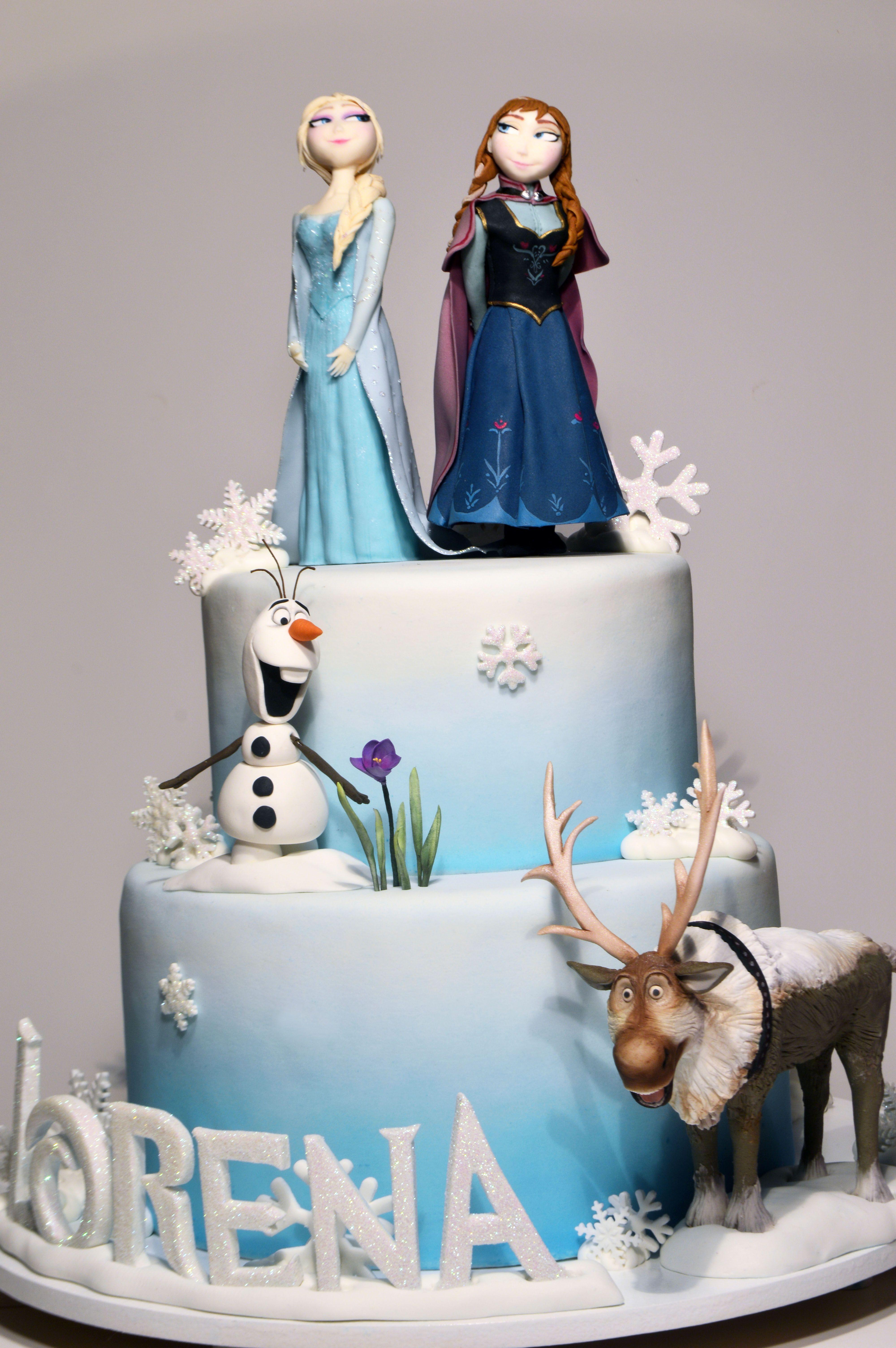 Bolo Frozen Elsa Ana Olaf E Sven Frozen Cake Elsa