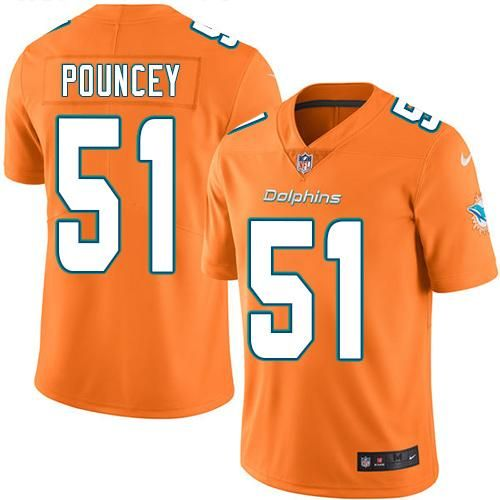 Nike Dolphins 51 Mike Pouncey Orange Men S Stitched Nfl Limited Rush Jersey And Bengals Vontaze Burfict 55 Jersey Nfl Jerseys Nfl Jerseys For Sale Nfl