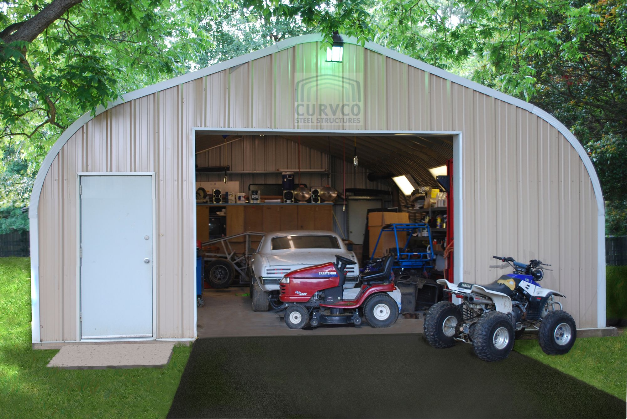 Pin by Curvco Steel Buildings on Metal Garage Kits Metal