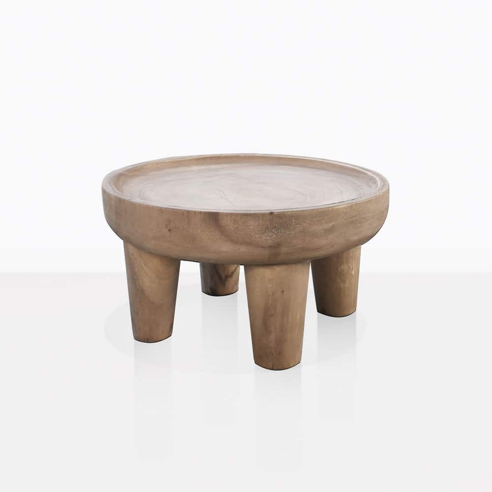 The African Safari Teak Side Table In Small Is A Work Of Art By