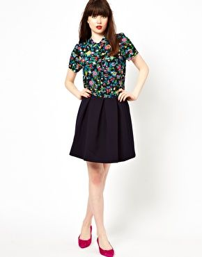Image 1 of Boutique By Jaeger Mini Skirt With Pleat
