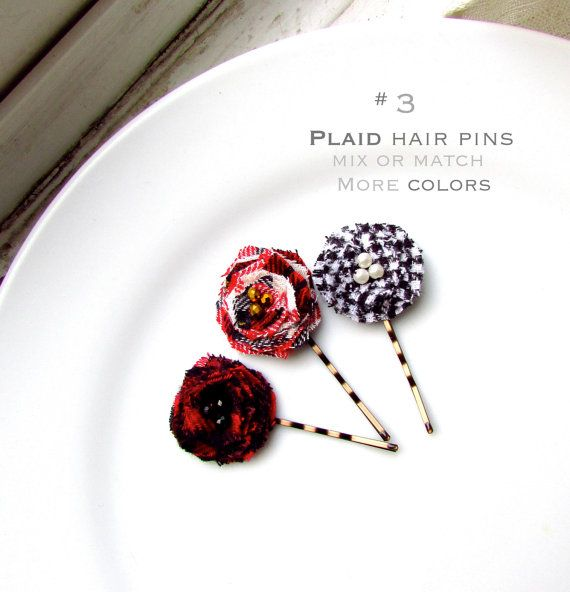 Sensational 3 Flannel Plaid Christmas Hair Accessories For Girls Stocking Hairstyles For Women Draintrainus