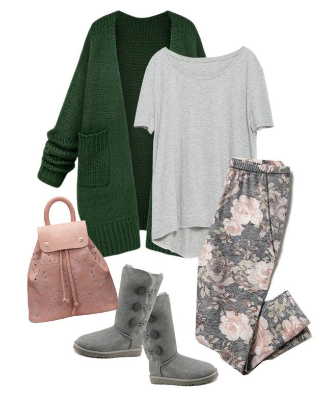 """""""Relax home"""" by natcatt ❤ liked on Polyvore featuring Zara, Free People, UGG Australia, women's clothing, women, female, woman, misses and juniors"""