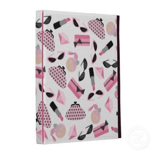 Girly Pink Make Up & Accessories iPad Folio iPad Folio Cases