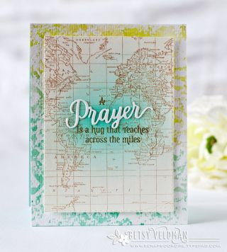 A Prayer Is A Hug Card by Betsy Veldman for Papertrey Ink (July 2016)