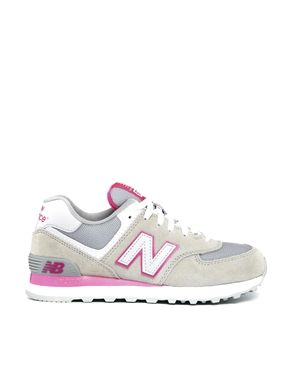 New Balance 574 Damen Grau Rosa