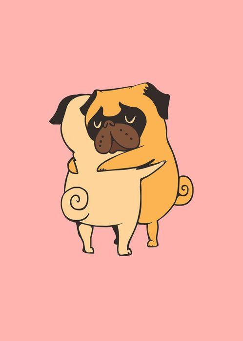 Lesstalkmoreillustration Pug Art Pug Illustration Cute Pugs