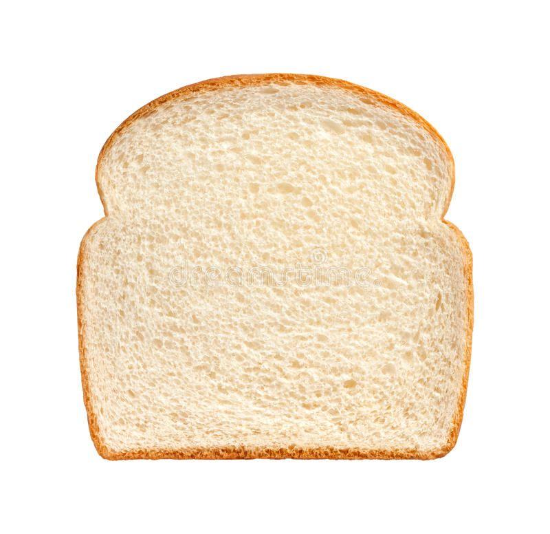 Bread Slice Isolated Single Slice Of White Bread Isolated On A White Background Spon Single White Isolated Bread Slice A Bread White Bread Slice