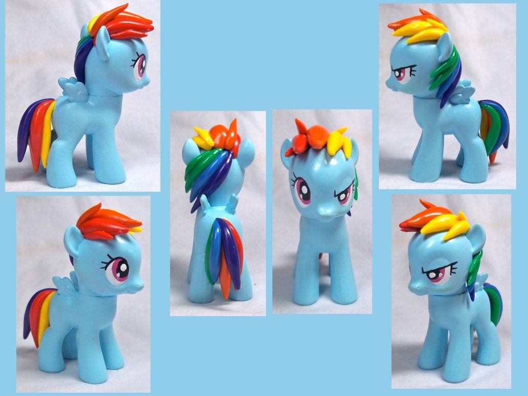 Filly Rainbow Dash custom toy by CadmiumCrab