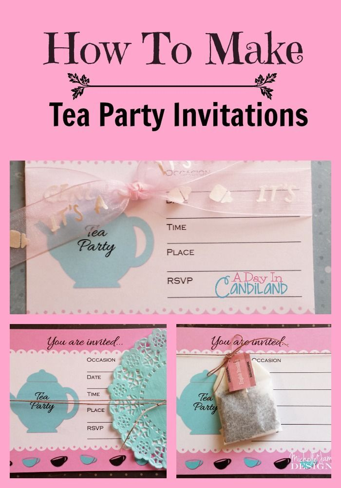 Silhouette and Doily Tea Party Invitation - Design Fee | Tea party ...
