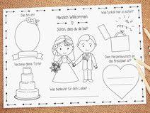 """Malvorlage PDF """"Grace"""" Hochzeit Gastgeschenk"""