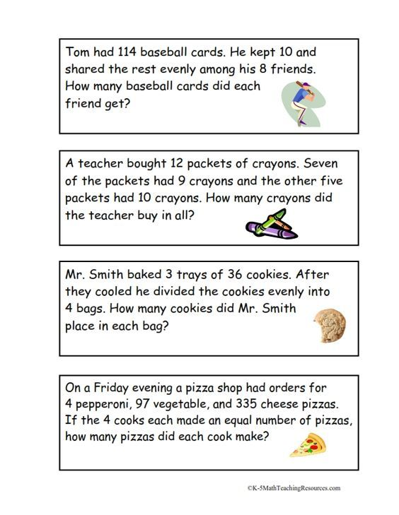 4th Grade Number Math Words, Multi Step Word Problems, Math Word Problems