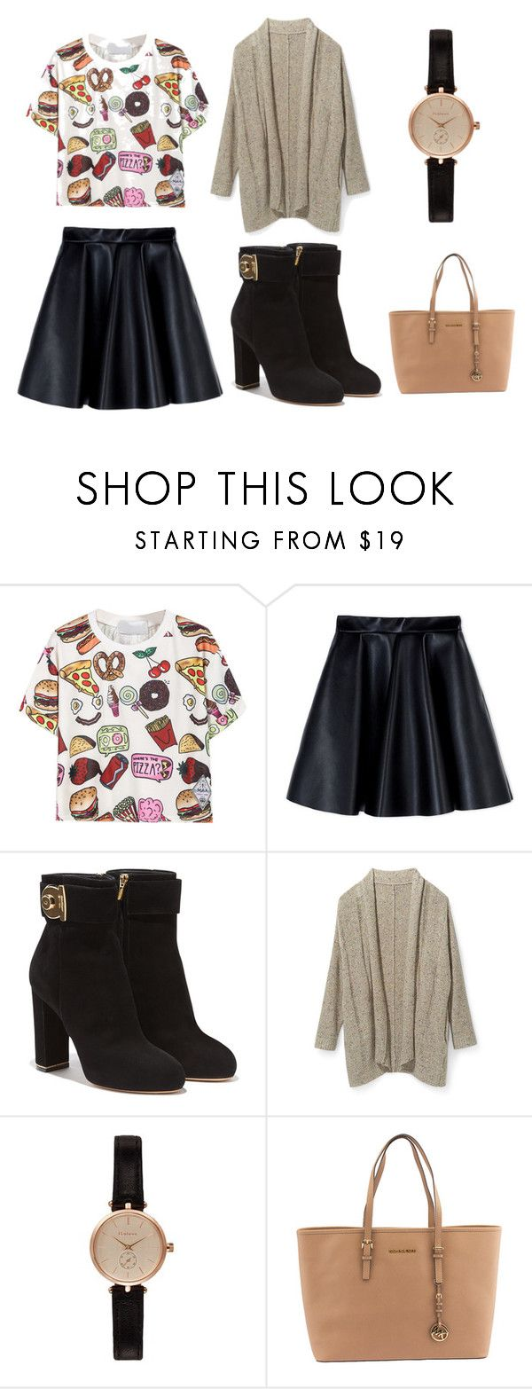 """Pizza? Pizza."" by mirta296 ❤ liked on Polyvore featuring MSGM, Salvatore Ferragamo, Rebecca Minkoff, Barbour, Michael Kors and croptop"