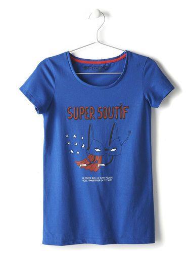 Tee-shirt imprimé super soutif recyclé femme