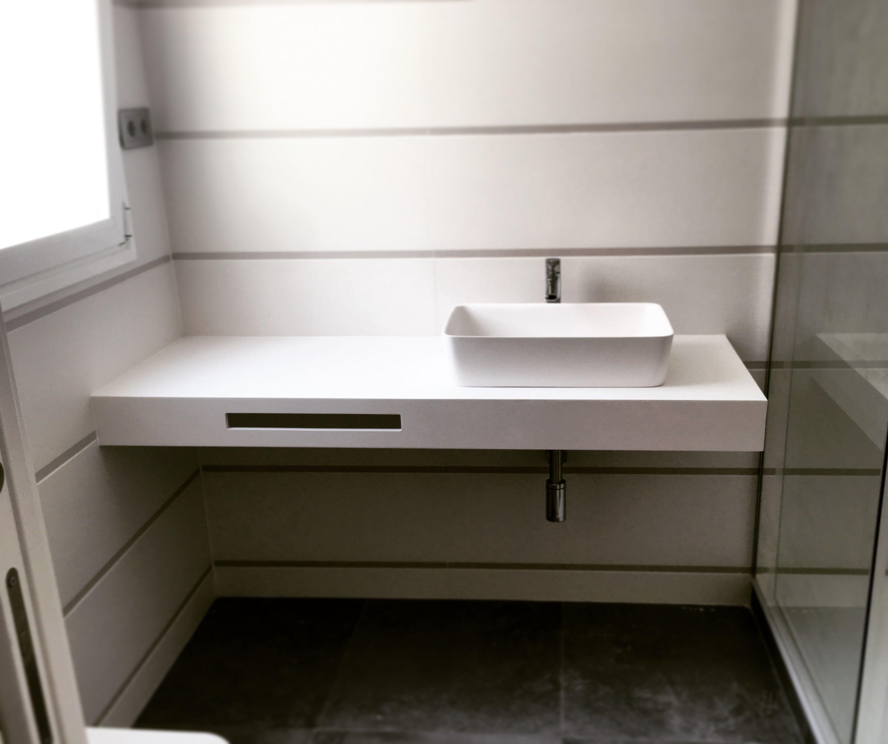 Encimera Superficie Sólida | Encimeras, Toalleros baño ...