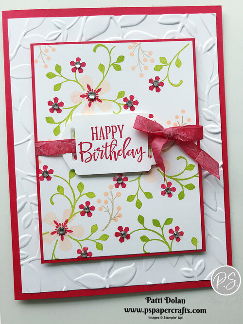 Pretty Birthday Card using Thoughtful Blooms — P.S. Paper Crafts