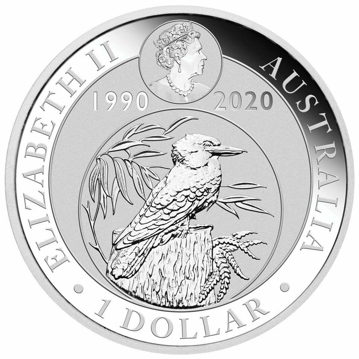 2020 P Australia 1 Oz Silver Kookaburra 30th Annv 1 Gem Bu Sku59718 Ebay In 2020 Silver Coins Coins Silver Bullion Coins